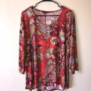 Ava & Grace plus Size 3X boho paisley tunic top